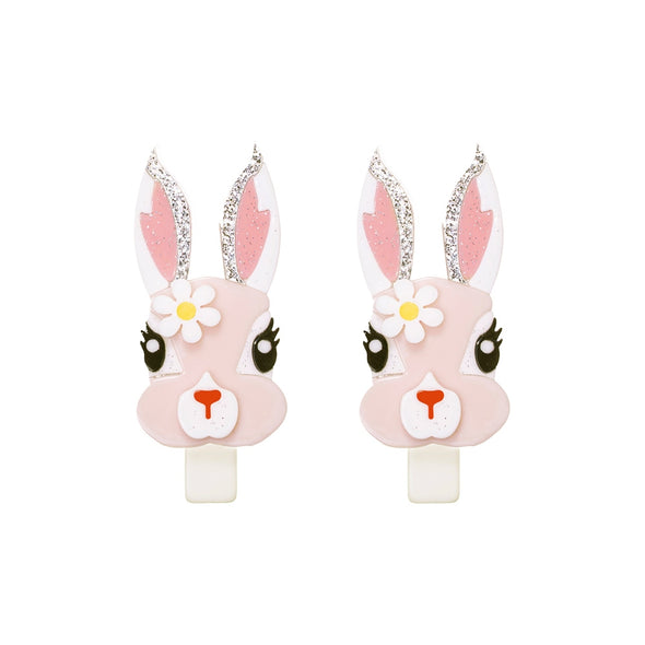 Bunny w/Flower Alligator Clip Set