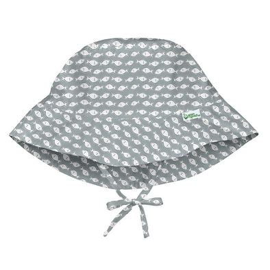 Grey Fish Floppy Hat