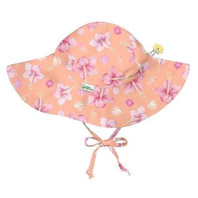 Peach Hibiscus Floppy Hat