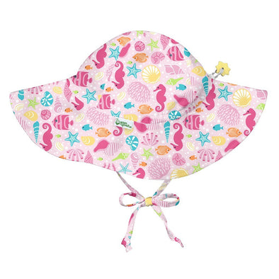 Pink Sea Life Floppy Hat