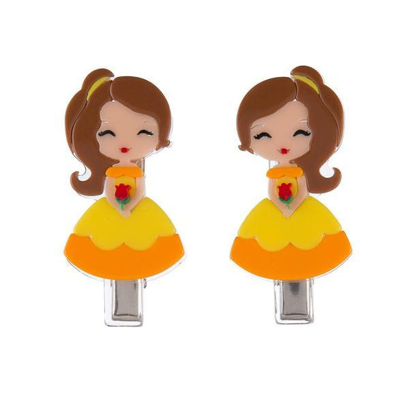 Yellow Dress Princess Clips