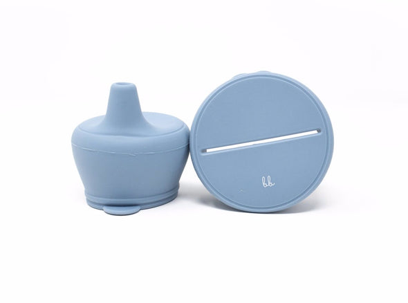 Slate Silicone Snack & Sippy Lids