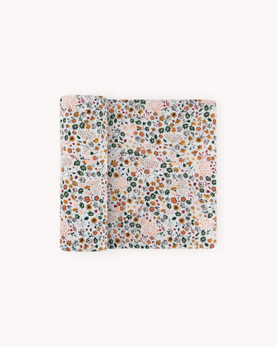 Pressed Petals Muslin Swaddle