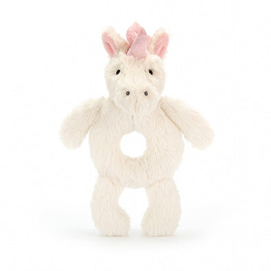 Unicorn Bashful Ring Rattle