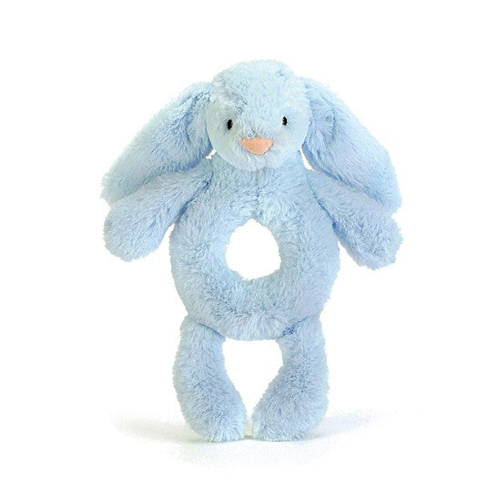 Blue Bunny Bashful Ring Rattle