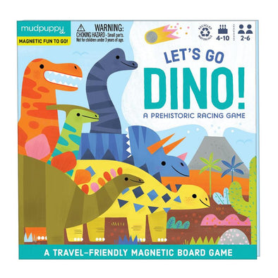 Lets Go Dino Magnetic Board Game