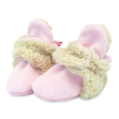 Cozy Furry Baby Bootie in Pink