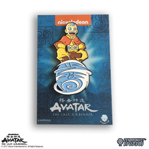 Aang On Air Scooter - Avatar: The Last Airbender Pin
