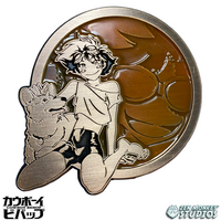 Antique Gold Ed + Ein - Cowboy Bebop Enamel Pin
