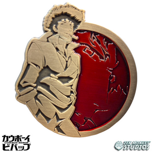 Antique Gold Spike Spiegel - Cowboy Bebop Enamel Pin