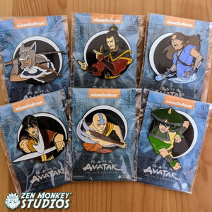 Day Of Black Sun Pin Set - Avatar The Last Airbender Enamel Combo
