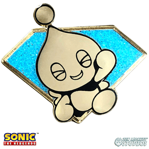 Golden Chaos Emerald Chao: Sonic The Hedgehog Collectible Pin