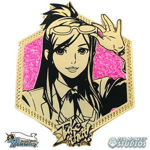 Golden Ema Skye: 1st Edition Ace Attorney Pin