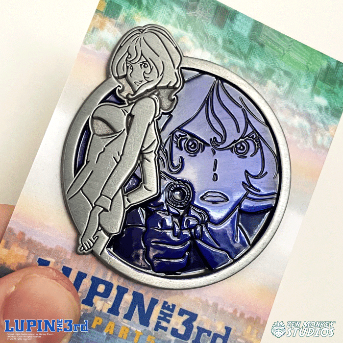 Fujiko - Portrait Series (Translucent Pin): Lupin the Third Pin