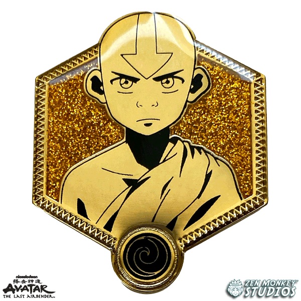 Golden Aang - Avatar The Last Airbender Pin