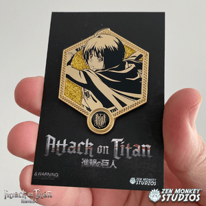 Golden Armin - 1st Edition Attack on Titan Collectible Enamel Pin