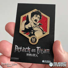 Load image into Gallery viewer, Golden Eren - 1st Edition Attack on Titan Collectible Enamel Pin