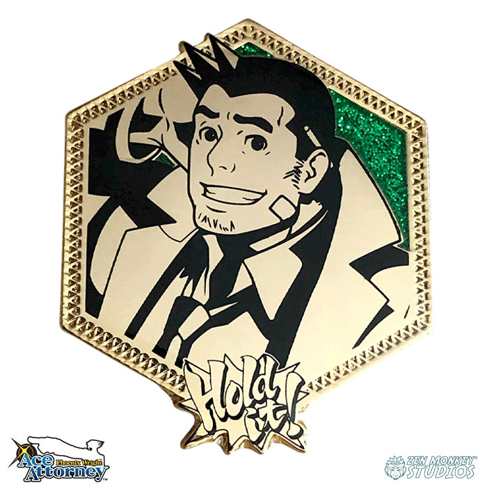 Golden Detective Gumshoe: Ace Attorney Pin