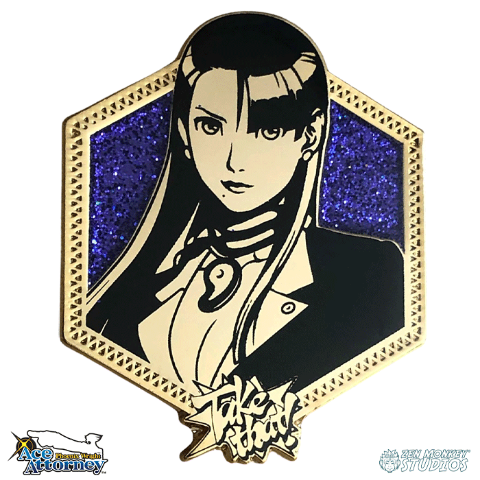 Golden Mia Fey: Ace Attorney Pin