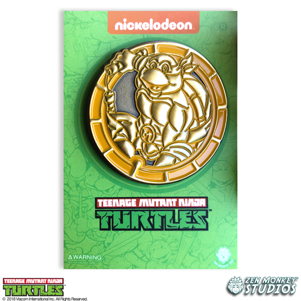 Golden Mikey Emblem - TMNT Limited Edition Pin