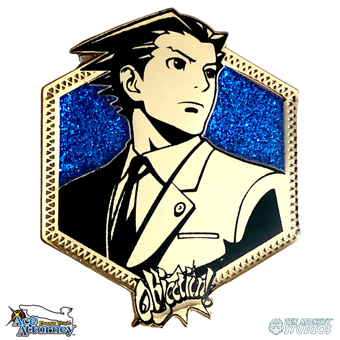 Golden Phoenix Wright: Ace Attorney Pin