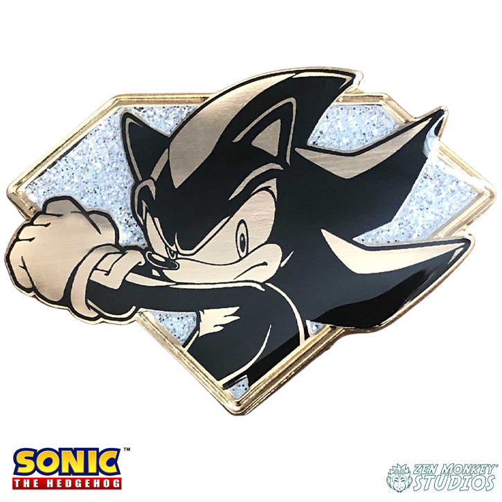 Golden Chaos Emerald Shadow: Sonic The Hedgehog Collectible Pin