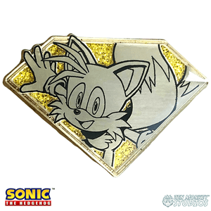 Golden Chaos Emerald Tails: Sonic The Hedgehog Collectible Pin