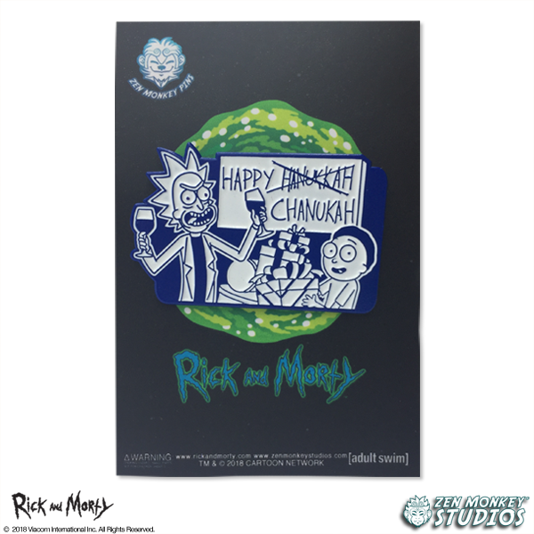 Happy Hanu--Chanukah, Rick! - Seasonal Rick & Morty Pin
