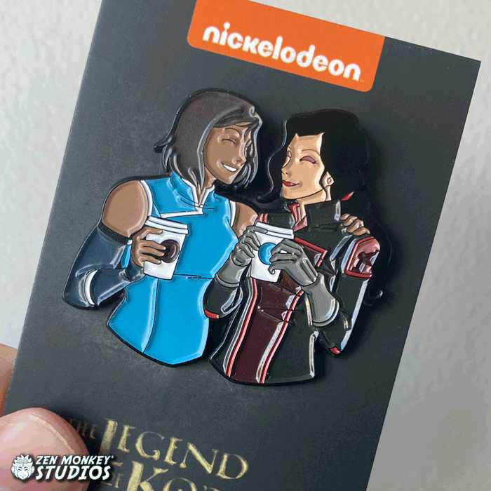 Stay Caffeinated:  Korrasami Coffee Date Pin