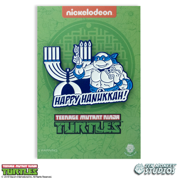 Leo's Menorah - TMNT Pin