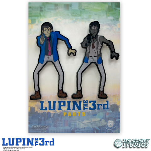Gun Blast Pin Set - Lupin the 3rd Collectible Pins