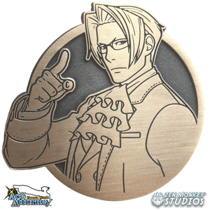 Limited Edition Emblem: Miles Edgeworth - Ace Attorney Enamel Pin