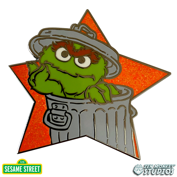 Star Series: Oscar The Grouch -  Sesame Street Pin