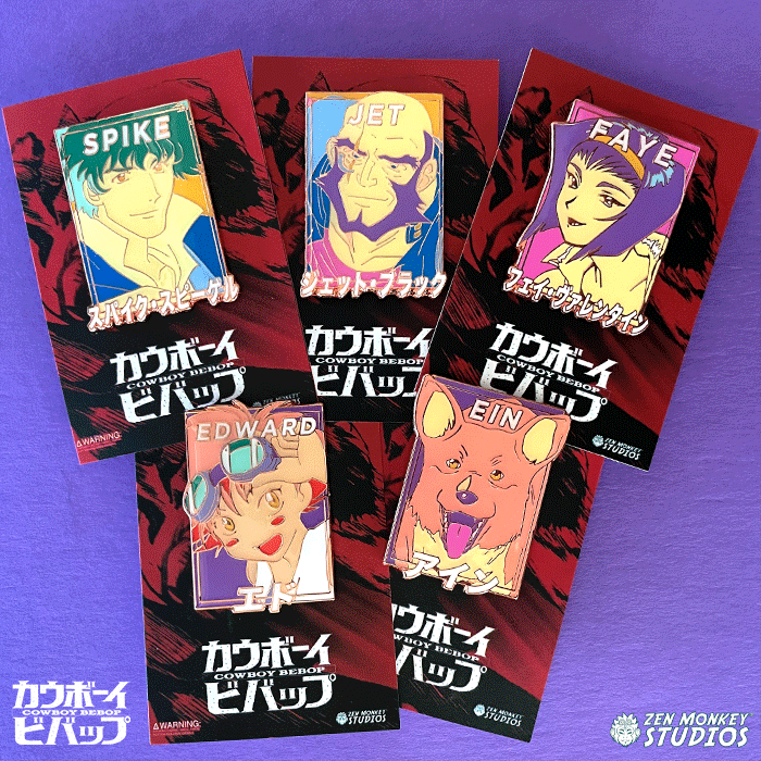 Space Pastels: Cowboy Bebop Pastel Pin Bundle