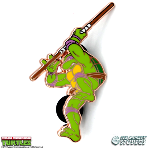 Gold Donatello: 35 Years of TMNT Limited Run Pin