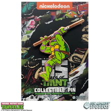 Load image into Gallery viewer, Gold Donatello: 35 Years of TMNT Limited Run Pin
