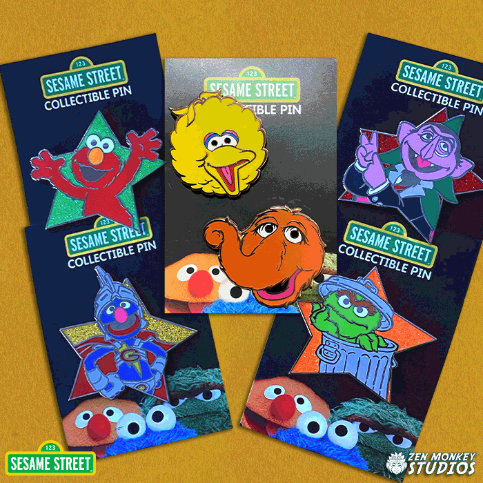 Shiny Star Bundle 1: Sesame Street Pin Bundle