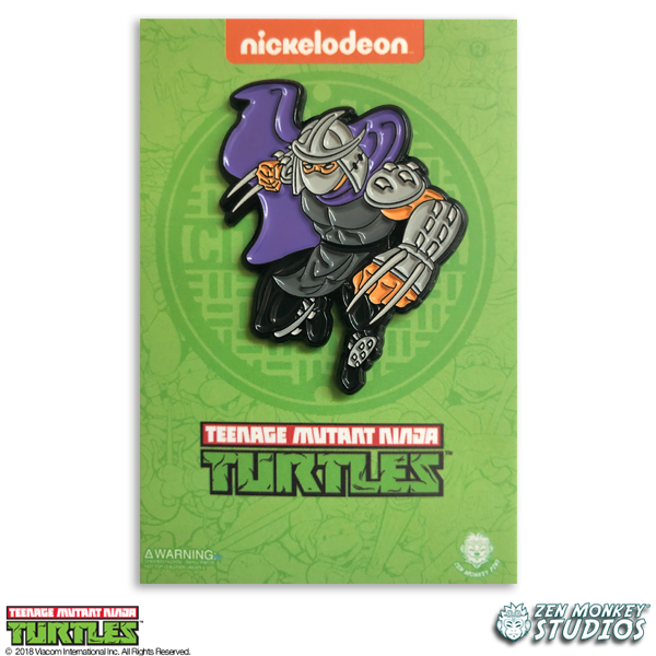 Leaping Shredder - TMNT Pin