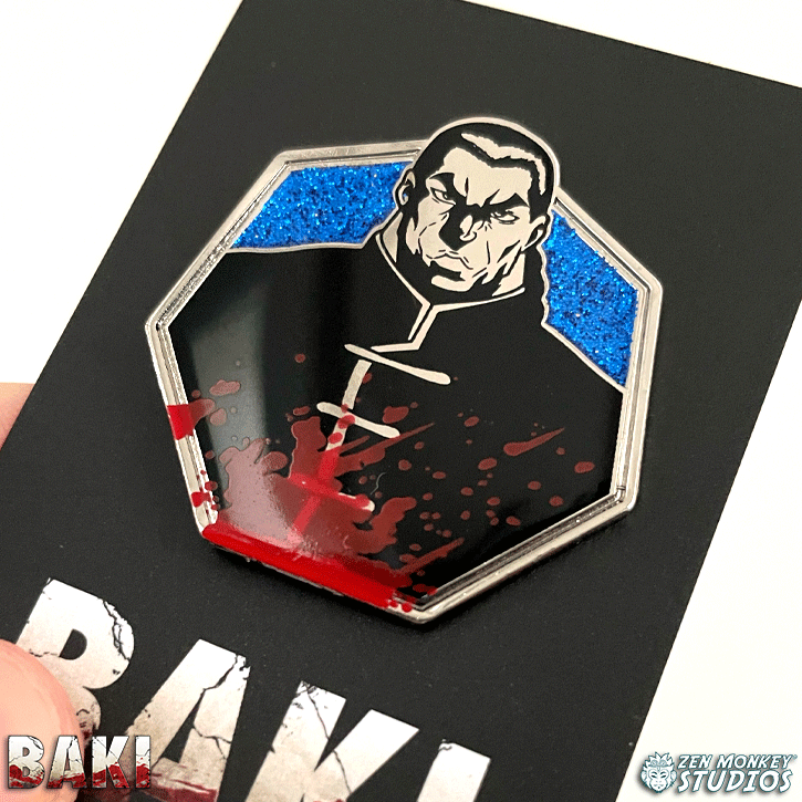 Kaio (Eishu) Retsu - Baki The Grappler Collectible Pin