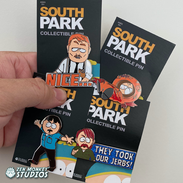 Stay In A Quiet Mountain Town Sale:  South Park Pins