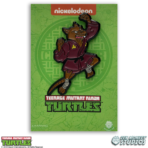 Leaping Splinter - TMNT Pin