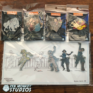 Stay at The Air Temple Sale: Korra Combo With Korra Animatic 3 pin set