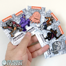 Load image into Gallery viewer, Stay Safe Sale: Classic Comic TMNT Allies & Enemies Pin Set