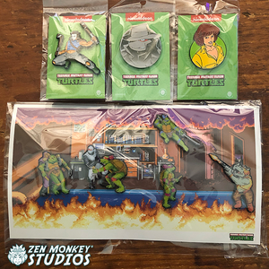 Stay Safe Sale: Nostalgia TMNT Pin Combo (15 available)