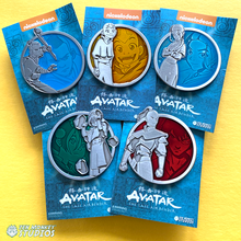 Load image into Gallery viewer, Airbender Portrait Series: Airbender Pin Combo (1st Set)