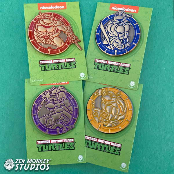Stay Safe Sale: Limited Edition TMNT Emblem Pin Set