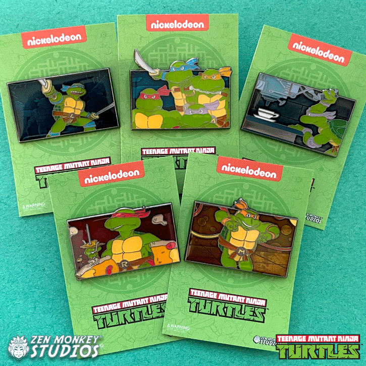 TMNT Theme Song Series Pin Bundle