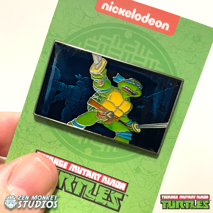 Leonardo Leads: TMNT Collectible Enamel Pin