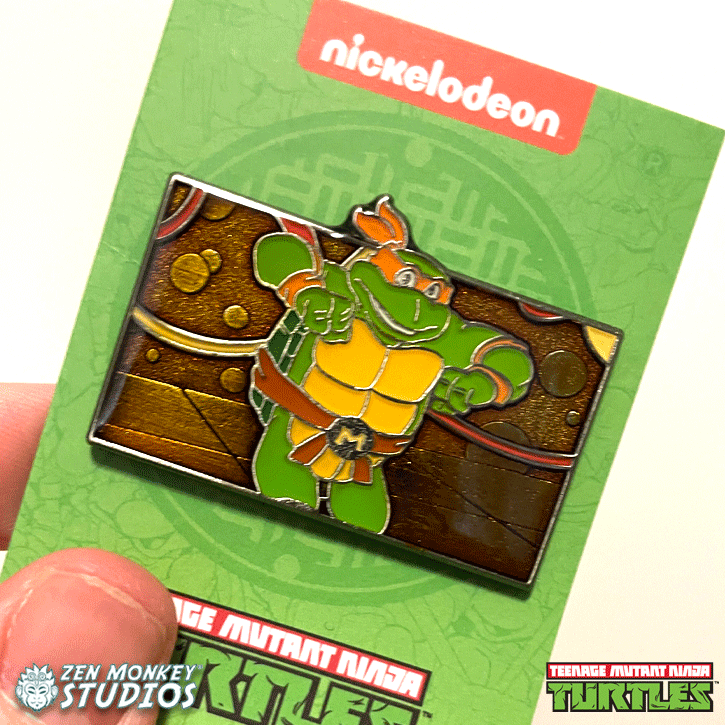Michelangelo is a Party Dude: TMNT Collectible Enamel Pin