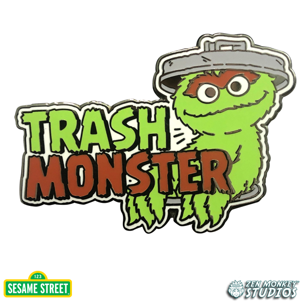 Trash Monster - Sesame Street Pin